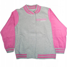 Jacheta College din bumbac pentru fete, Disney Minnie Mouse, gri / roz