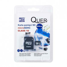 MICRO SD CARD 64GB CLASA 10 QUER - Card Micro SD