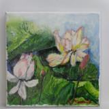 Nuferi2-pictura ulei pe panza;MacedonLuiza - Pictor roman, Flori, Altul