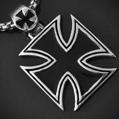 Pandantiv Crucea Malteză, Crucea de Fier din INOX - cod PND071 - Pandantiv inox