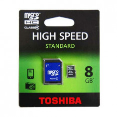 MICRO SD CARD 8GB CLASS4 FARA ADAPTOR TOSHIBA - Card Micro SD