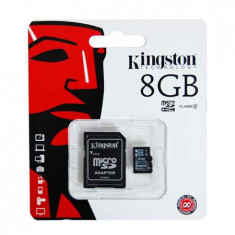 MICRO SD CARD 8GB CU ADAPTOR SD KINGSTON - Card Micro SD