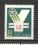 China. 1987 Banca Postei  KY.102
