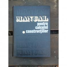 MANUAL PENTRU CALCULUL CONSTRUCTIILOR -CARACOSTEA - Carti Constructii