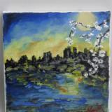 Peisaj 2-pictura ulei pe panza;MacedonLuiza - Pictor roman, Peisaje, Altul