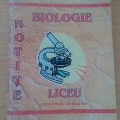 Notițe. Biologie Liceu . Enciclopedie de buzunar. - Teste Bacalaureat Altele