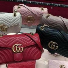 GENTI GUCCI NEW MODEL CALITATE GARANTATA/LOGO METALIC AURIU - Geanta Dama Gucci, Culoare: Alb, Marime: One size