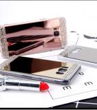Husa Silicon PREMIUM de LUX oglinda cu pietricele Samsung Galaxy S8 / S8 plus