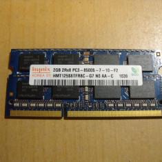 Ram Laptop Hynix 2 GB DDR3 PC3-8500S HMT125S6TFR8C-G7 - Memorie RAM laptop Hynix, 1066 mhz