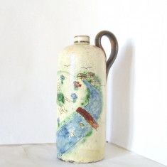 Ulcior ceramica pictata manual sub smalt, anii 40 - Degetica - Ystad, Suedia - Arta Ceramica