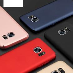 Bumper / Husa ultra subtire protectie 360° pentru Samsung Galaxy S7 - Husa Telefon, Negru