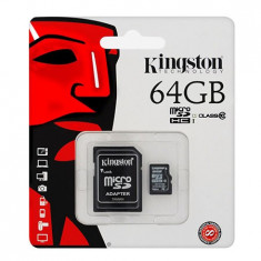MICRO SD CARD 64GB CLASS 10 ADAPTOR KINGSTON - Card Micro SD
