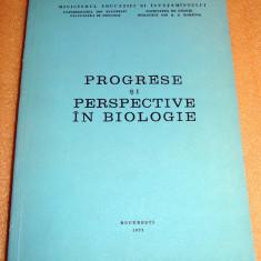 Progrese si Perspective in Biologie - Facultatea de Biologie 1977