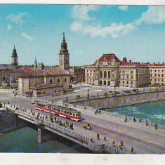 Bnk cp Oradea - Centrul orasului - circulata - Kruger 1488/3 - Carte Postala Crisana dupa 1918, Printata