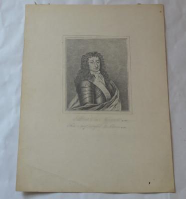 Barbat cu armura desen vechi foto