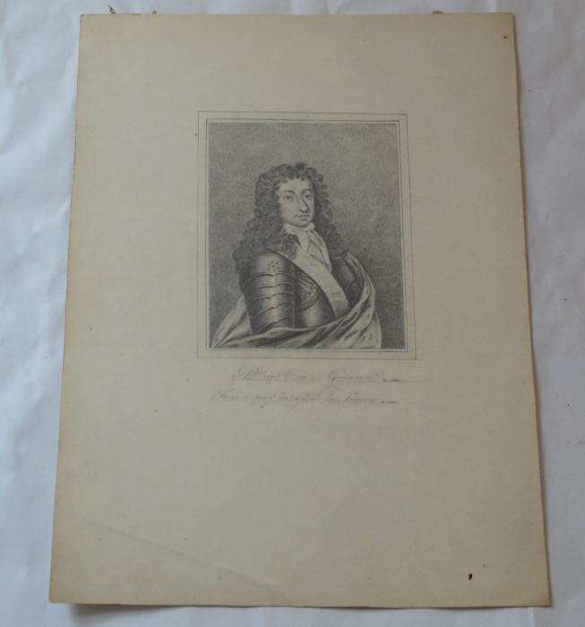 Barbat cu armura desen vechi foto mare