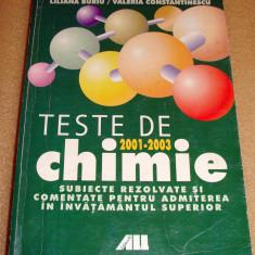 Teste de Chimie / Admiterea in Invatamantul Superior - Baciu / Constantinescu - Manual scolar Altele, Clasa 7
