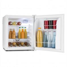 Klarstein MKS-8, 40 l, gri deschis, minibar, mini frigider, frigider de cameră, clasa de energie A, Independent, Numar usi: 1, Alb