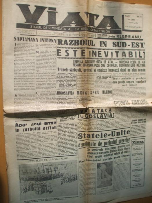 Viata 7 aprilie 1941 caricatura expozitii pictura Codreanu Sachelarie Ghiata Dan