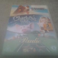 Lassie / Charoltte's Web / Paulie - DVD [A, B, C] - Film animatie, Engleza