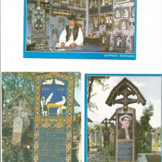 (A1)Lot- 4 carti postale -MARAMURES-Sapanta - Carte postala tematica, Necirculata, Printata