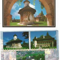 (A1)Lot- 4 carti postale-SUCEAVA-Manastirea Moldovita - Carte postala tematica, Necirculata, Printata