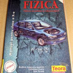 Fizica - manual clasa a X a F1 - Ionescu-Andrei / Onea / Toma - Manual scolar Altele, Clasa 10