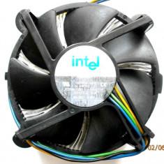 COOLER INTEL SOCKET 775 CU MIEZ DE CUPRU MASIV 500g, ORIGINAL, IMPECABIL !!! - Cooler PC Intel, Pentru procesoare