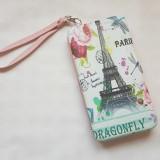 Portofel port telefon, carduri si bancnote, din piele eco de calitate, imprimata - Portofel Dama, Culoare: Din imagine