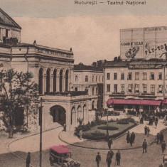 BUCURESTI, TEATRUL NATIONAL AUTOMOBILE EPOCA RECLAME EDITURA LIBRARIA SOCEC - Carte Postala Muntenia 1904-1918, Necirculata, Printata