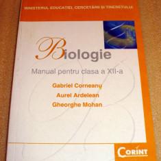 Biologie - manual clasa a XII a - Corneanu / Ardelean / Mohan - Manual scolar corint, Clasa 12