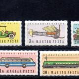 UNGARIA 1959, Aviatie, Locomotiva, Transporturi, MNH, serie neuzata - Timbre straine, Nestampilat