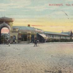 BUCURESTI, HALA BIBESCU - VODA, BERARIA BRANCOVEANU, TRASURI, CIRC. 1912 - Carte Postala Muntenia 1904-1918, Circulata, Printata
