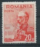 DEPARAIATE-1938 Romania,LP 126  k-Straja Tarii-Voivozi,VAL 20 LEI -MNH, Regi, Nestampilat