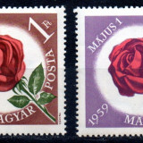 UNGARIA 1959, Flora, MNH, serie neuzata - Timbre straine, Nestampilat