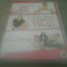 27 Dresses / What happens in Vegas / In her shoes - DVD [B, acd - Film romantice, Engleza