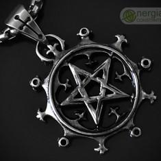 Amuleta, Pandantiv Pentagrama (Sigiliul lui Solomon) INOX - cod PND040