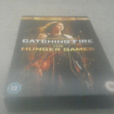 The Hunger Games + The Hunger Games Catching Fire - DVD [B, C] - Film actiune, Engleza