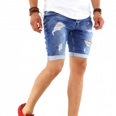 Blugi scurti fashion - blugi barbati - SUMMER EDITION - cod 8586B8, Marime: 29, 30, 33, 34, Culoare: Din imagine, Slim Fit