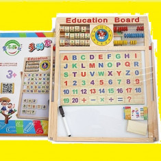Tabla magnetica multifunctionala educativa pentru copii -Noi - Jocuri Forme si culori