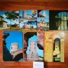 Lot 6 CP Targoviste. (Carti postale vechi, Vederi Romania, Tirgoviste), Printata, Romania de la 1950