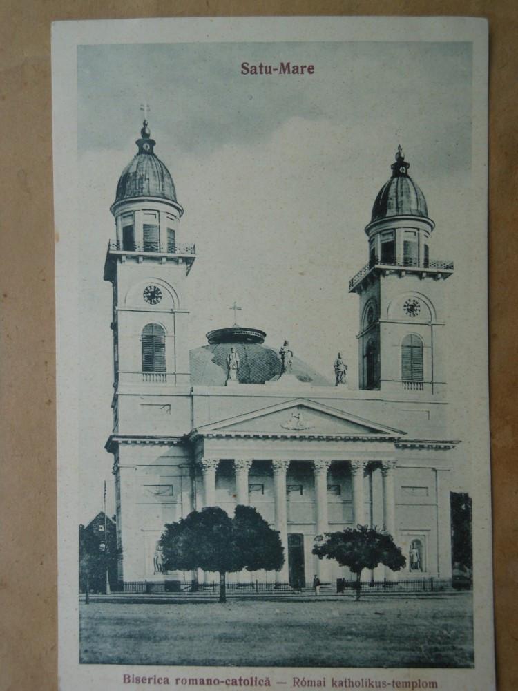 Carte postala- Satu-Mare, Biserica Romano-Catolica, 1926 necirculata   arhiva Okazii.ro