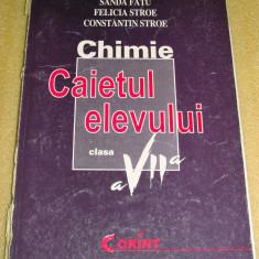 Chimie - manual clasa a VII a / Caietul Elevului - Fatu / Stroe - Manual scolar Altele, Clasa 7