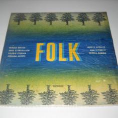 FOLK - LP culegere romaneasca de Muzica Folk electrecord (DOAR COPERTA VINILULUI, FĂRĂ DISC)