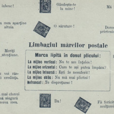 ROMANIA CARTE POSTALA DUBLA CU LIMBAJUL MARCILOR POSTALE EDITURA SAMITCA CRAIOVA, Necirculata, Printata