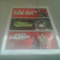 Kick Ass + The Green Hornet + Scott Pilgrim - DVD [A,B], Engleza
