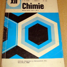 Chimie - manual clasa a XII a / 1997 - Albu / Ionescu / Ilie - Manual scolar Altele, Clasa 12