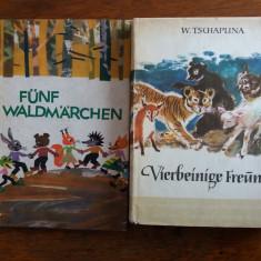 2 carti povesti cu animale in limba germana / C38P - Carte de povesti