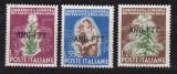 Trieste A  1950   tutun  MI 115-117   MNH  w44, Nestampilat