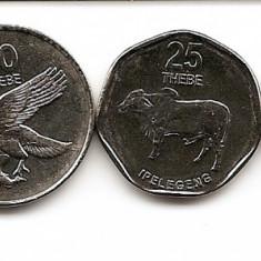 Botswana Set (5) 5, 10, 25, 50 Thebe, 1 Pula 1999/10 - UNC !!!, Africa
